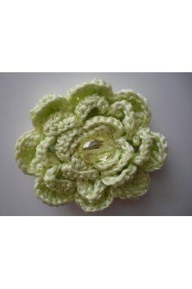 Ръчно изработено  цвете, допълнение към тоалет