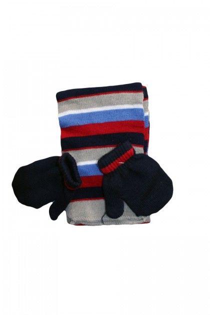 Детски комплект шал и ръкавици