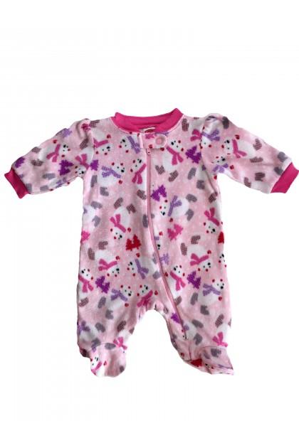 Детски дрехи за момичета, Гащеризон за спане от полар За спане