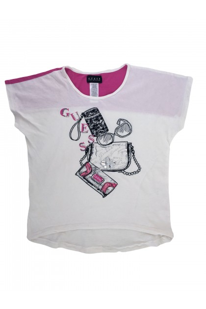 Купи онлайн Топ Guess Guess, 10.00 лв. - уникални детски дрехи за момичета  от Онлайн магазин KidsMall, модел № 34956. Качествени и ниски цени! Виж Тук     23d1644c873